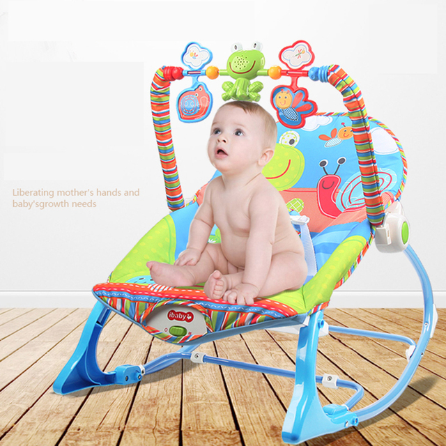 Metal Baby Cradle With Light Music Player Cradle Swings Electric Rocking chair For Baby Children Bassinet Rocking Chair for baby 2