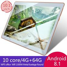10.1 inch for Android 8.1 plastic Tablet PC 4GB+64GB Ten-Core WIFI tablet 13.0MP Camera cube iwork12 12 2 inch win10 android 5 1 4gb 64gb tablet silver