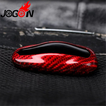 Car Real Carbon Fiber Key Fob Case Cover Shell For Tesla Model S 2012- 2018 Red
