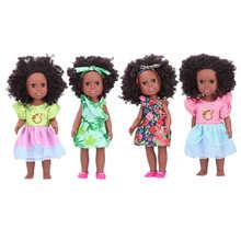 Vinyl Doll Reborn Lifelike Girl Black Soft for Shower And Dress-Up Play Chidren Cute