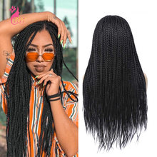 Синтетический парик для женщин длинные прямые плетеные искусственные