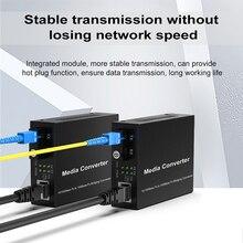 1 זוג אופטי סיבי Media Converter 10/100M חד סימפלקס סיבי משדר יחיד סיבי ממיר 1310/1550nm 20km SC