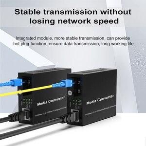 Image 1 - 1 para optyczny konwerter światłowodowy 10/100M jednomodowy Simplex Transceiver światłowodowy pojedynczy konwerter światłowodowy 1310/1550nm 20km SC