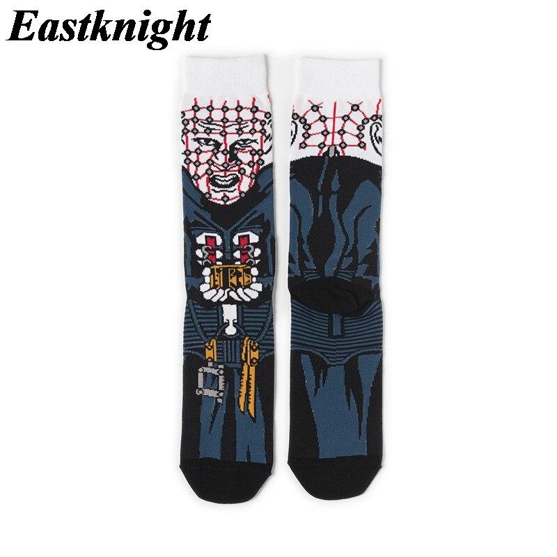 K1295 1 Pair Hellraiser New Fashion Men Cotton Socks Famous Horror Movie Socks Unisex Funny Novelty Socks