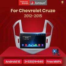 Junsun V1 2G + 32G Android 10.0 Rds Voor Chevrolet Cruze 2012-2015 Auto Radio Multimedia Video speler Navigatie Gps 2 Din Dvd