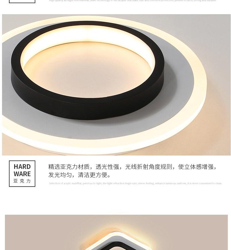 Hf6ef5584fb864c96a3310db1b19415d9n LICAN Modern LED Ceiling Lights for bedroom bedside Aisle corridor balcony Entrance Modern LED Ceiling Lamp for home