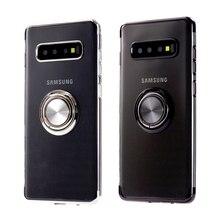 Прозрачный чехол с покрытием для Samsung Galaxy Note 20 Ultra S8 S9 S10 S20 Plus S10 E S10E S9Plus S10Plus S20Plus, чехол с кольцом-держателем