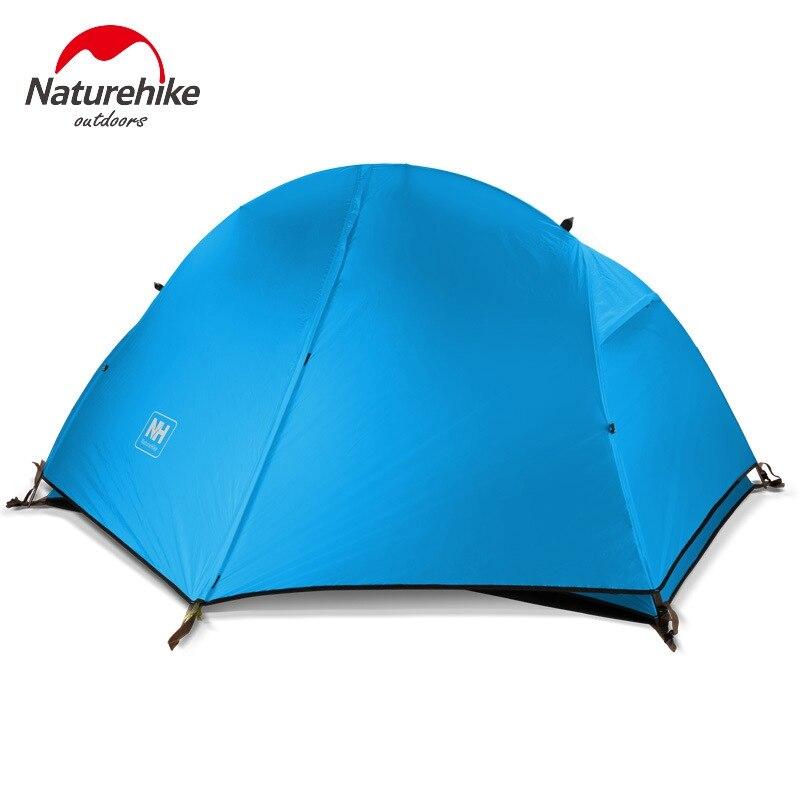 Палатка Naturehike 20D, Ультралегкая палатка из силиконовой ткани, 1 человек, двухслойная, алюминиевая, 4 сезона, с ковриком для кемпинга, 1,3 кг