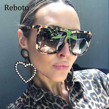 fashion rimless oversize women sunglasses panther sunglasses for women oculos feminino in summer luxury eyewear for fashion lady Big Frame Square Sunglasses Women fashion Flat Top Oversize Luxury Brand Gradient sun glasses for women 2020 Oculos