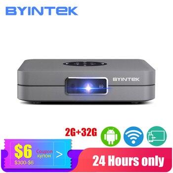 BYINTEK Mini Proyector U20, Proyector wi-fi inteligente Android, Proyector DLP LED portátil para IPhone Smartphone 300 pulgadas cine 3D