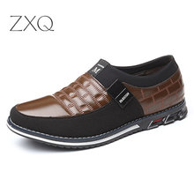 Genuine Leather Men Casual Shoes Brand 2019 Mens Loafers Moccasins Breathable Slip on Black Driving Plus Size 38-46