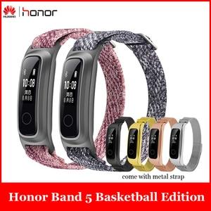 Image 1 - Смарт браслет Huawei Honor Band 5 с пульсометром и металлическим ремешком