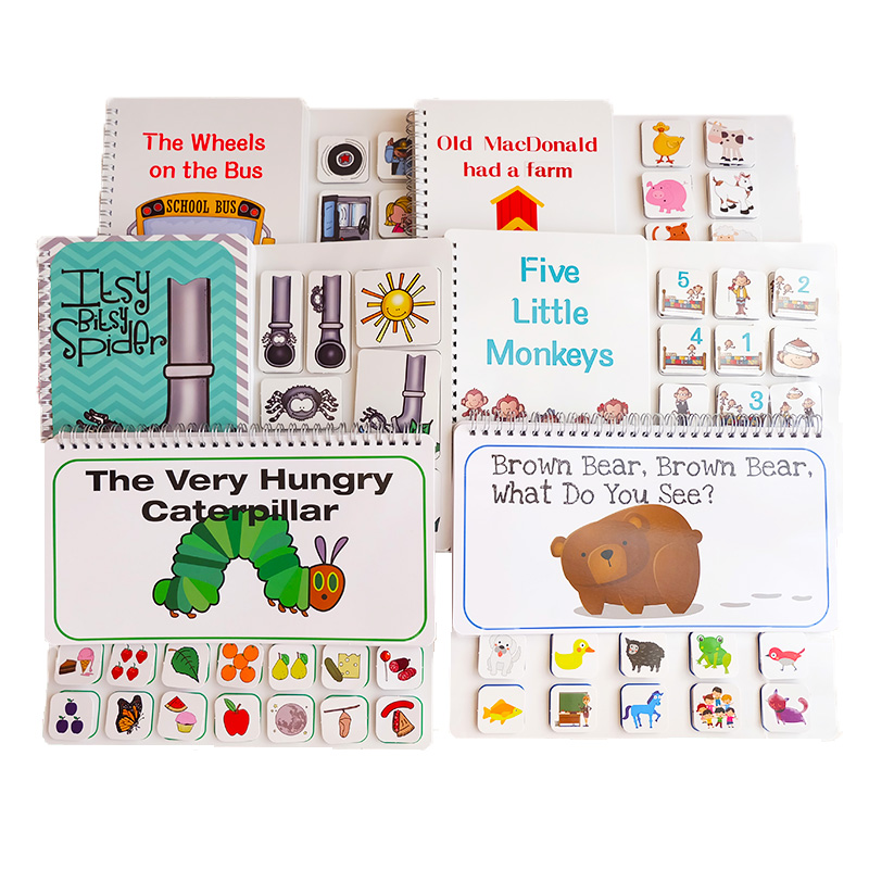 Picture Book Brown Bear The Very Hungry Caterpillar Quiet Book For Toddler Early Educational Toy  Montessori Toys
