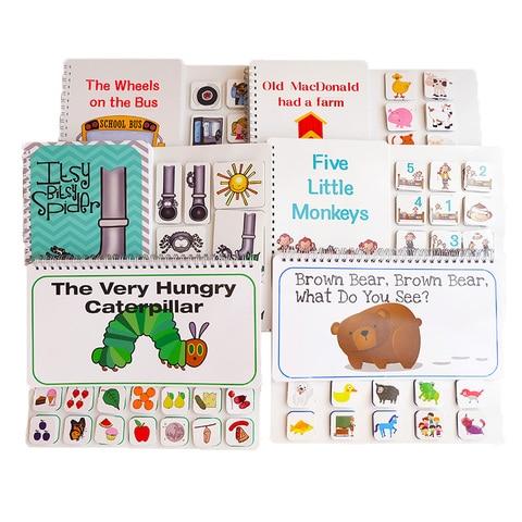 livro de imagens urso marrom a lagarta muito faminta livro silencioso para a crianca brinquedo