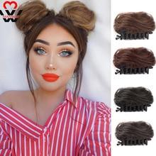 MANWEI коротких синтетических волос расширений шиньон, пончик ролик булочка шиньон парик для женщин