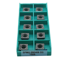 цены 10pcs SPMG110408 SPMG090408 SPMG07T308 SPMG060204 DG TT9030 carbide inserts CNC lathe turning tools