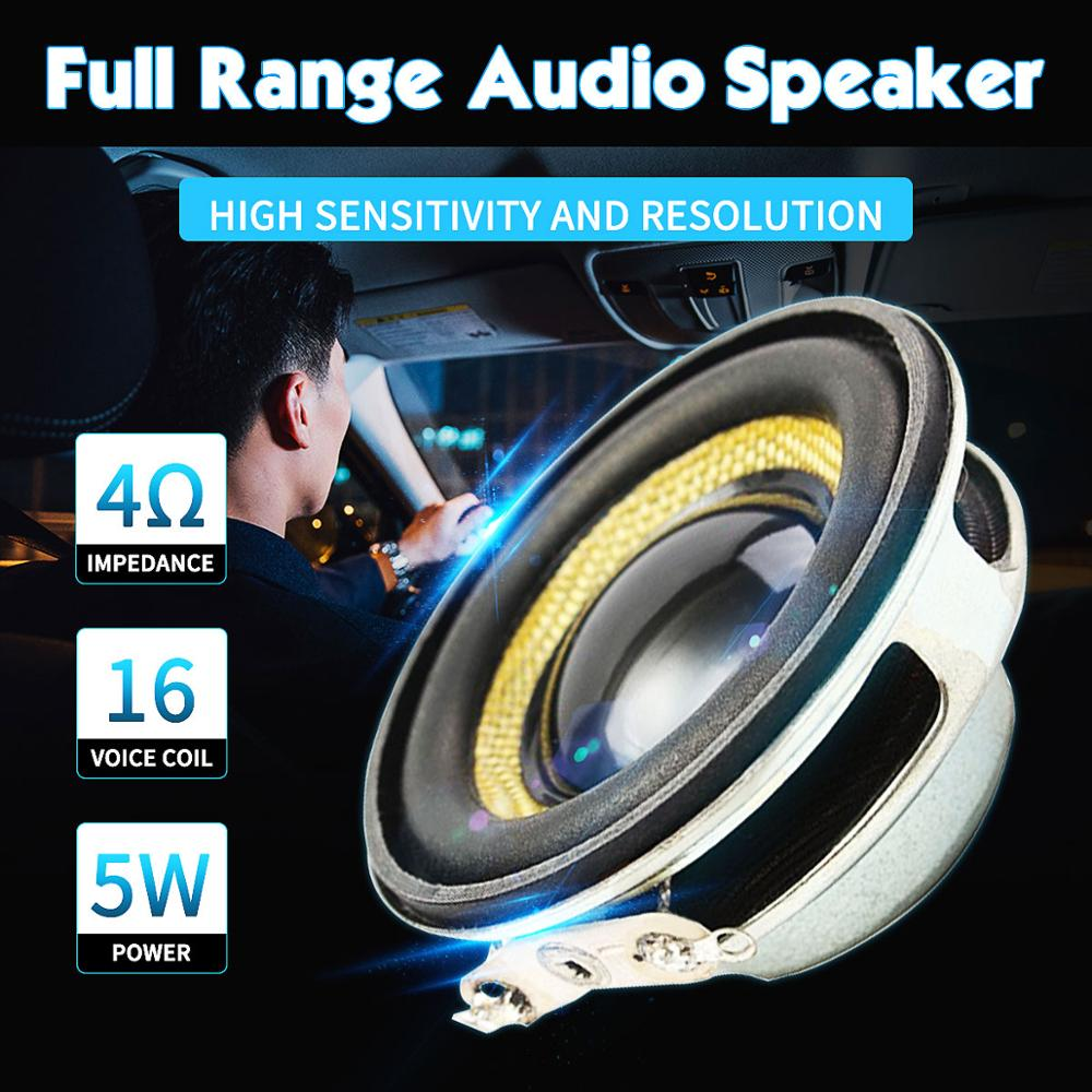 LEORY 1.5 inch 40mm Audio Full Range Speaker Unit 4Ohm 5W Audio Speaker Loudspeaker Horn DIY Home Theater|theater|theater speaker - AliExpress