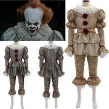 Фильм It: Chapter Two Pennywise Косплей Костюм клоун костюмы на Хэллоуин перчатки маска для взрослых детей