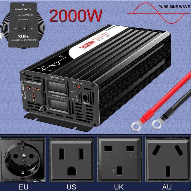 電源インバータ2000ワット純粋な正弦波