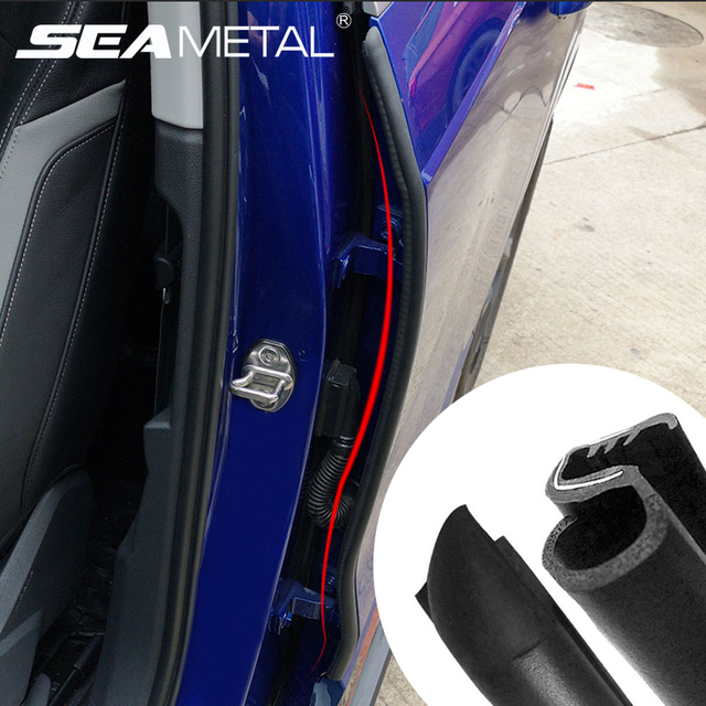 Car Door Seal Strip Rubber Car Door Side Sealing Weatherstrip Auto Waterproof Noise Insulation Sealant Protection Car Accessory