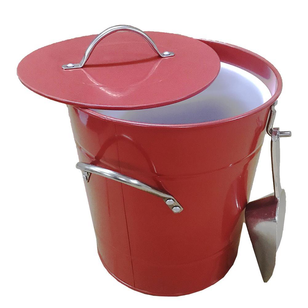 Ice Bucket Shovel Galvanized Plate Barrel Plastic Round Bar Ice Wine Maker