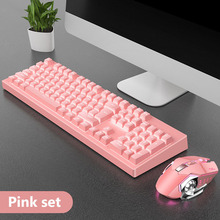 USB Wired Backlit Gaming Keyboard and Mouse 104 Keycaps Mechanical Feeling Keyboard Game Mouse For Laptop PC Computer Gamer цена в Москве и Питере