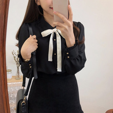 Chiffon Blouses Shirts New Hot Sales Girls Bow Tie