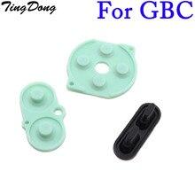 TingDong – ensemble de 50 boutons de console Gameboy GBC, couleur, réparation de coussinets en caoutchouc conducteur de silicium, prix de gros