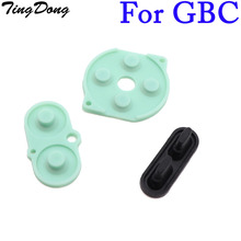 Tingdong 50 세트 x 게임 보이 컬러 gbc 콘솔 버튼 수리 실리콘 전도성 고무 패드 도매 가격
