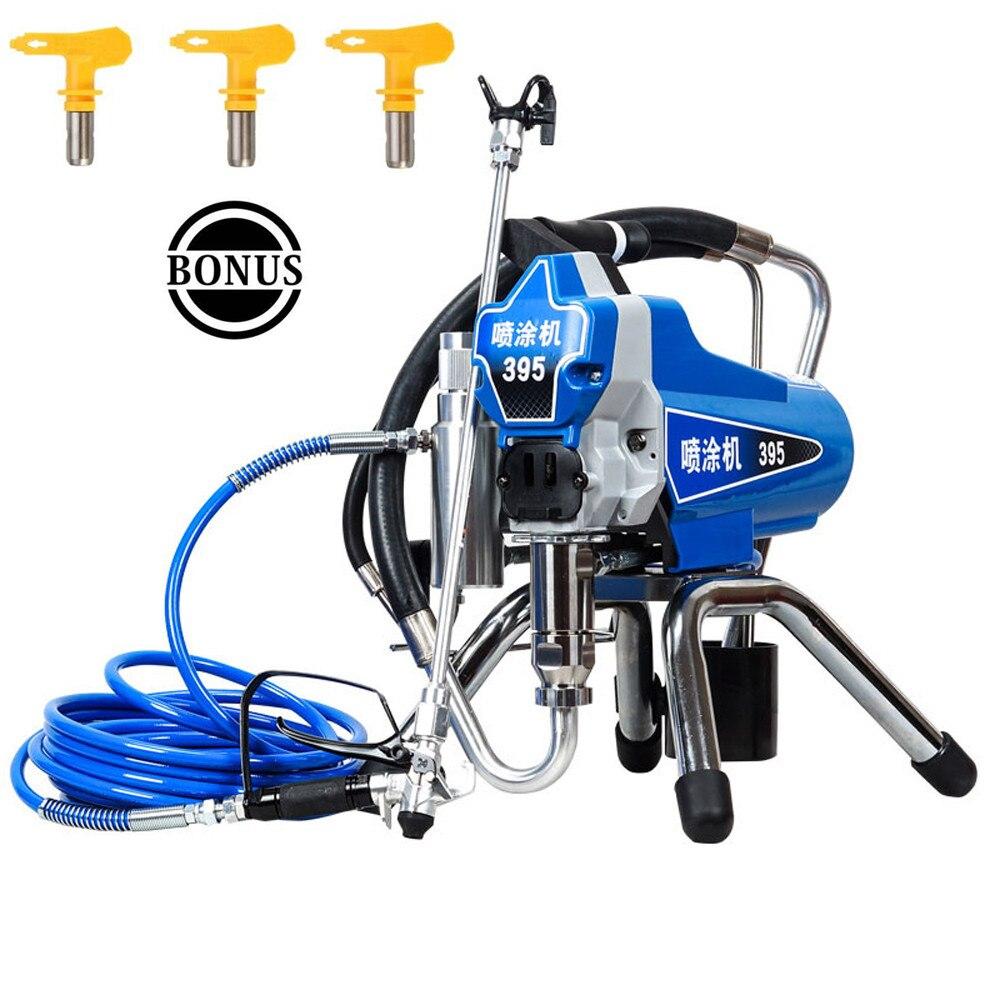 Professionnel électrique peinture sans air pulvérisateur PISTON peinture Machine 390 395 avec 2200W moteur usine vente directement