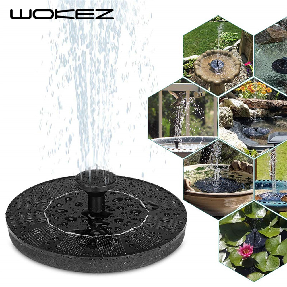 WOKEZ 16CM New Solar Power Water Fountain Pump Bird Fountain Water Floating Fountain Pond Garden Patio Decor Lawn Decoration