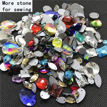 All Shapes&Colors Glass Sew On Rhinestones Crystal With Holes Stones for DIY Dress Clothes Crafts Arts