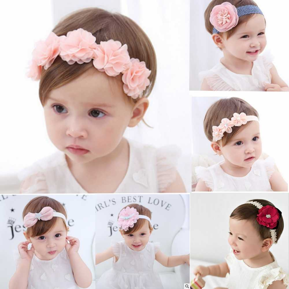 2019 korean Baby girls hairbands newborn fabric flowers for headbands DIY jewelry photographed photos Children hair accessories