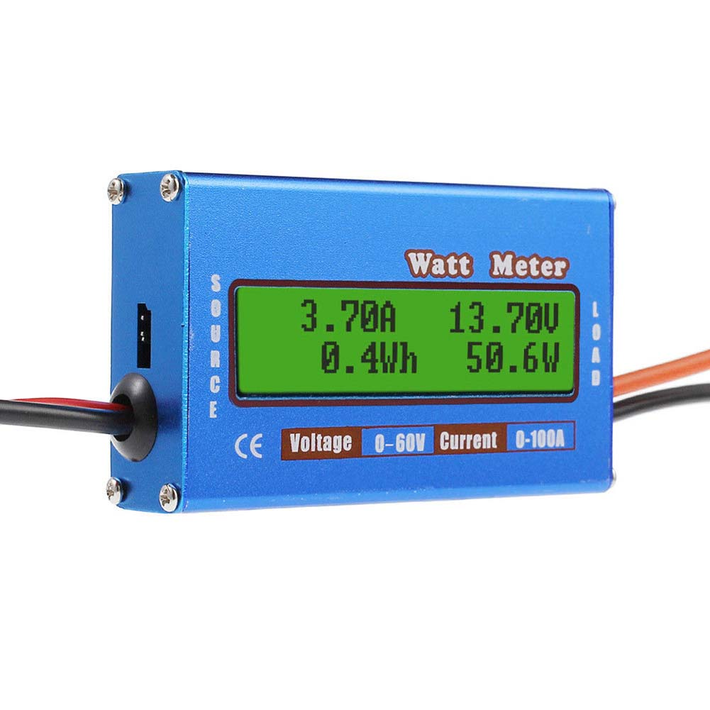 Digital Monitor LCD Watt Meter 60V/100A DC Ammeter RC Battery Power Amp Analyzer PUO88