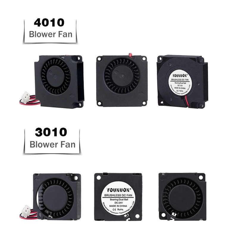 2 Pcs Kogellager 5015/4010/4020/3010/5010 12V & 24V Cooling Turbo Fan Borstelloze 3D Printer Onderdelen 2 Pindc Cooler Blower Deel Fans