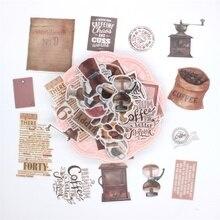 KSCRAFT 64 предмета кофейные веленевая писчая бумага наклейки для скрапбукинга счастливый планировщик/изготовление карт/Журнал