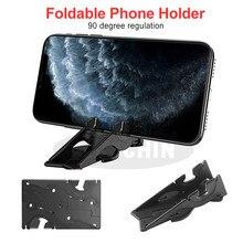 Bolso portátil ajustável suporte do telefone dobrável titular do telefone tipo de cartão rotação suporte conveniente para transportar para smartphones