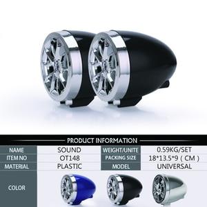 Image 5 - Waterproof Bluetooth Motorcycle Stereo Amplifier Speakers Handlebar Mount Audio Amp System for Harley ATV UTV RZR, AUX, FM Radio