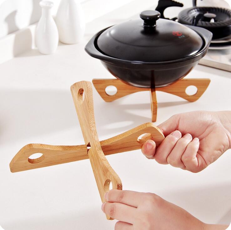 Стойка для лотка, съемный деревянный коврик для стола, кухонный горшок с теплоизоляцией, охлаждающая посуда, держатель гаджета