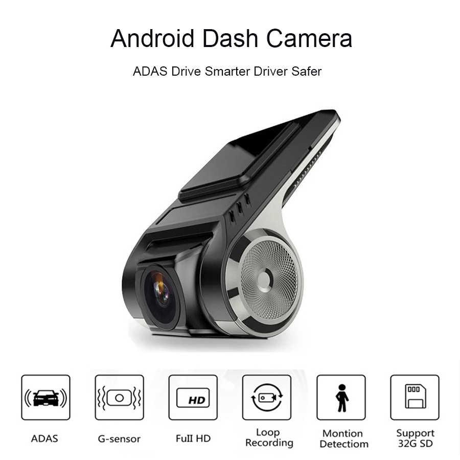 Anfiite ADAS coche dvr HD Dash Cam Cámara LDWS Auto grabadora oculta Tipo de reproductor Multimedia Android DVD noche visión
