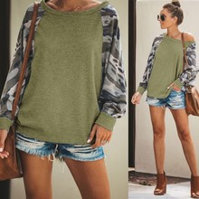 Fashion Sleeve Print Sweatshirt For Women Long O-neck Antumn Clothes Streetwear Famale Pullover 2019 New