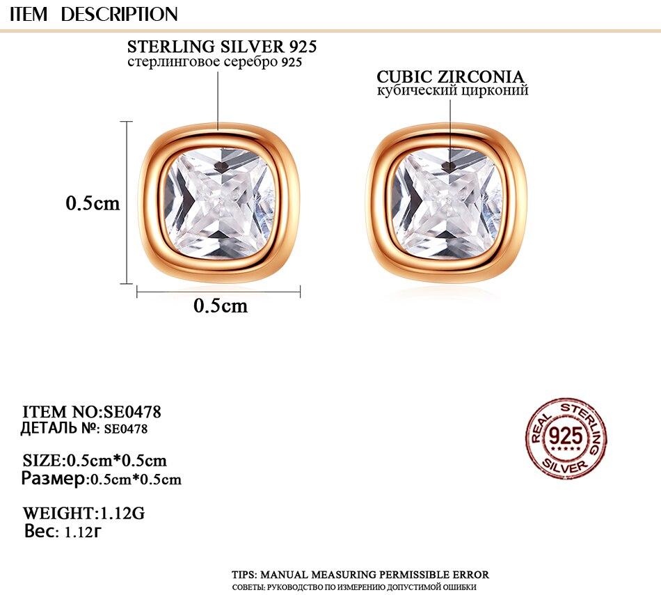 Gem &amp, Time Minimaliste, 925 En Argent Sterling, Cubique Zircon Boucles D'oreilles,