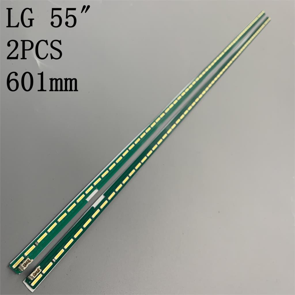 2 pces x led backlight strip 55
