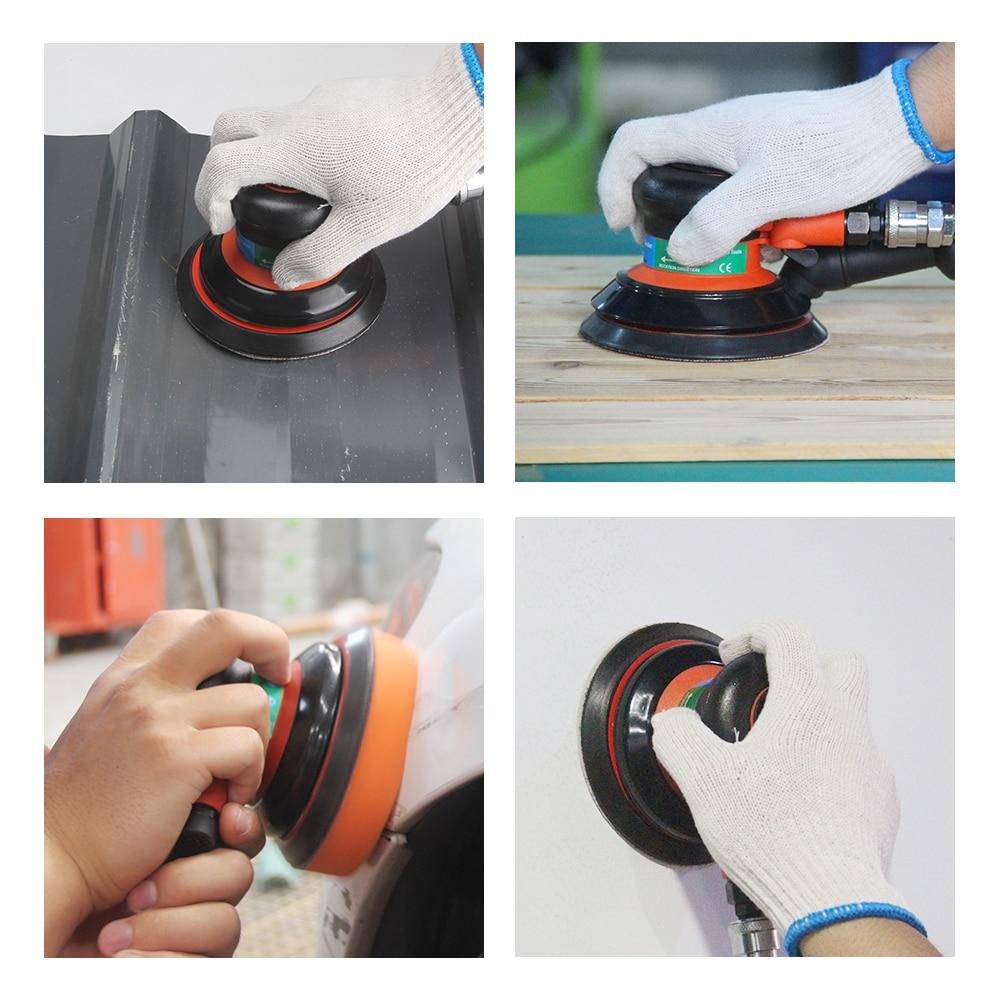 5inch Pneumatic Eccentric Orbital 125MM 5MM Tools FivePears Pneumatic Sander Machine Random Air Sanding Vacuum