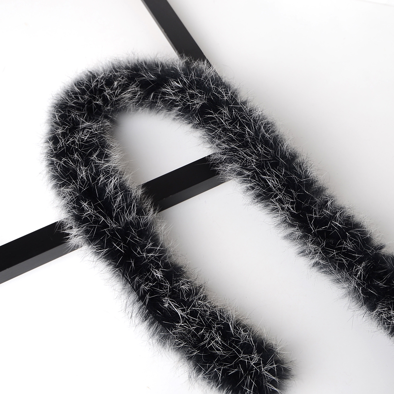 100% Natural Thickened Rabbit Fur Trim Clothes Accessories Genuine Fur Strips For Sweater Coat Hood Hat Diy Fluffy