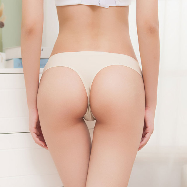 3 pcs big size butt Silk Sexy Women Thongs g string Seamless Panties Female Underwear Tanga Panties Women Low-Rise Lingerie 1