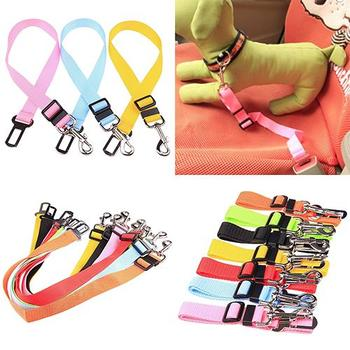 Pet Puppy Dog Cat Car Seat Safety Belt Harness Restraint Lead Adjustable Travel Outdoor Fixed Clip image