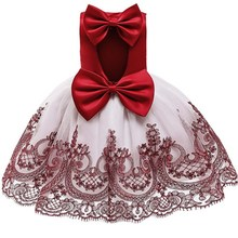 Elegant Hand Beaded Girls Dresses for  2-10 Years