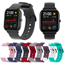 Bracelet for Xiaomi Amazfit Bip Band 20mm Silicone Soft sport wristband for Xiaomi Huami Amazfit Bip Younth Smartwatch strap аксессуар ремешок df для xiaomi amazfit bip xiclassicband 01 red