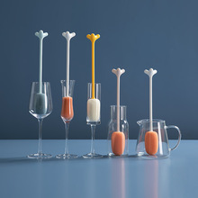 Small Brush Cleaning-Brush-Set Long-Handle Bottle Glass-Cup Angle-Sponge Washing Artifact-Cup